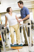 Physiotherapist With Patient In Rehabilitation — Stock Photo