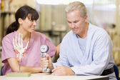 Nurse With Patient In Rehabilitation — Stock Photo