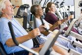 Spor salonunda antrenman hastalar — Stok fotoğraf