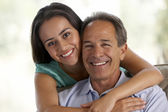 Father And Daughter Together At Home — Stock Photo
