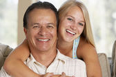 Father And Daughter Together At Home — Foto Stock