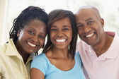 Couple With Their Teenage Daughter — Stock Photo