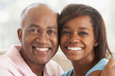 Man With His Teenage Daughter — Stock Photo
