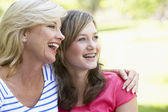Woman And Her Teenage Daughter — Stock Photo