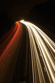 Headlights And Tail Lights On A Motorway At Night — Stock Photo