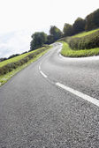 Winding Country Road Edged By Hedges — Stock Photo