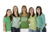 Group Of Teenage Girls With Mother — Stock Photo