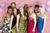 Group Of Teenage Friends Dressed For Prom — Stock Photo