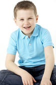 Portrait Of Smiling Young Boy — Foto Stock