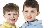Portrait Of Two Young Boys — Stock Photo
