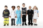 Young Children Dressing Up As Professions — 图库照片