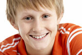 Portrait Of Smiling 12 Year Old Boy — Stock Photo