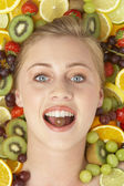 Portrait Of Young Woman Eating Chocolate — Stockfoto
