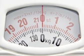 Close Up Of Bathroom Scales Dial — Stock Photo