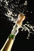 Popping Champagne Cork — Stock Photo