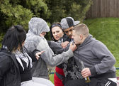 Gang Of Youths Fighting — Stock Photo