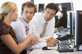 Stock Trader Team At Work — Stock Photo