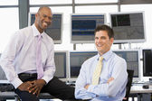 Portrait Of Two Stock Traders — Stock Photo