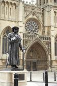 Exterior,Bristol,Cathedral,UK — Stock Photo