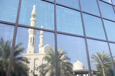 Dubai,Jumeirah Mosque Reflected In Modern Office — Stock Photo