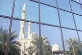 Dubai,Jumeirah Mosque Reflected In Modern Office — Stock Photo