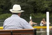 Henley regatta seyirci — Stok fotoğraf