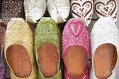 Dubai,Colourful Slippers In Souk — Stock Photo