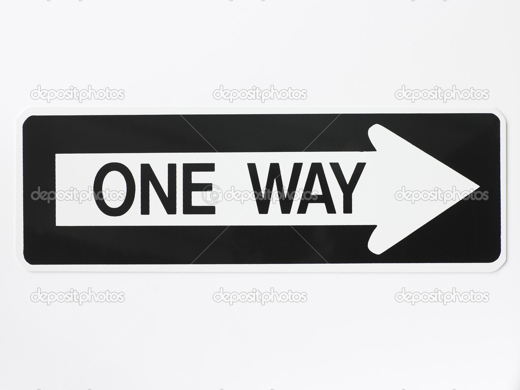 One Way Road Sign — Stock Photo #4790128