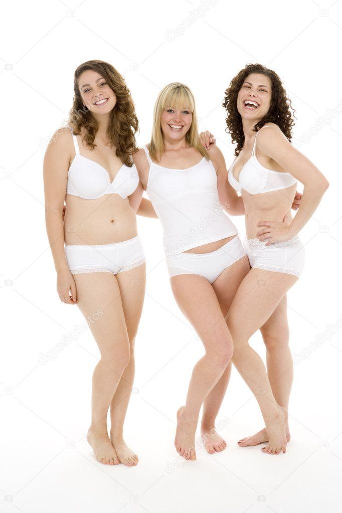 Portrait Of Women In Their Underwear - Stock ImageWomen In Underpants Only