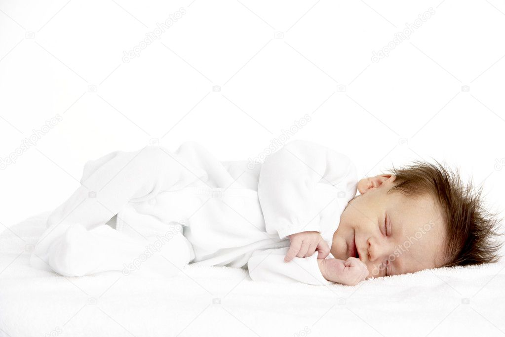 Peaceful Sleeping Newborn Baby — Stock Photo #4795710