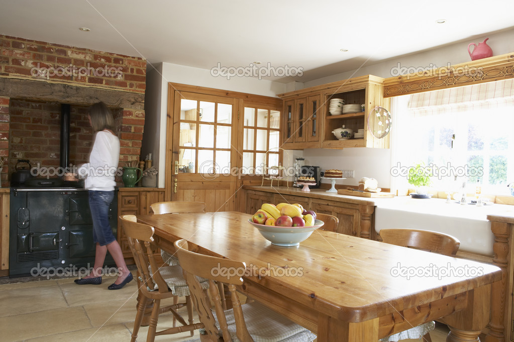 Interior Of Farmouse Kitchen — Stock Photo #4796233