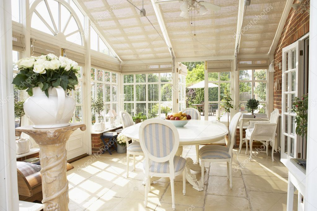 Interior Of Modern Conservatory  Stock Photo #4796243