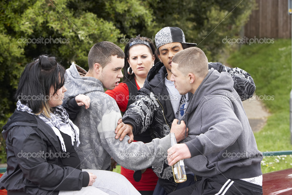 Gang Of Youths Fighting  Stock Photo #4796756