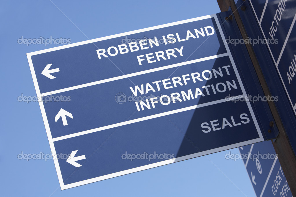 South Africa,Cape Town,Victoria And Albert Waterfront Sign — Stock Photo #4797049