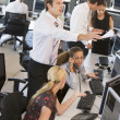 High Angle View Of Stock Traders At Work — Stock Photo #4814229
