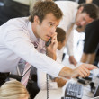 Stock Trader On The Phone - Stock Photo