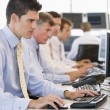 Stock Traders At Work — Stock Photo