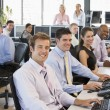 View Of Busy Stock Traders Office — Stock Photo #4814254