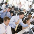 View Of Busy Stock Traders Office — Stock Photo #4814258