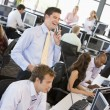 View Of Busy Stock Traders Office — Stock Photo #4814259