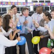 Stock Traders Celebrating In The Office — Stock Photo #4814269