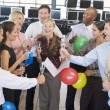 Stock Traders Celebrating In The Office — Stock Photo #4814270