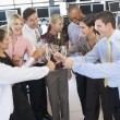 Stock Traders Celebrating In Office — Stock Photo #4814272
