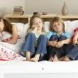 Young Children Watching Television at Home — Stock Photo