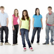 Group of Teenage Friends in Studio — Stockfoto