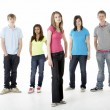 Group of Teenage Friends in Studio — Foto Stock
