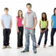 Group of Teenage Friends in Studio — Stock Photo