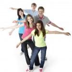 Group of Teenage Friends in Studio — Stock Photo #4814627