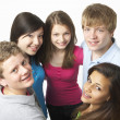Group of Teenage Friends in Studio — Photo
