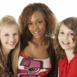 Stockfoto: Portrait Of Three Teenage Girls